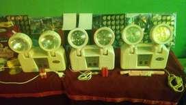 REMATO TRES EQUIPOS de LUZ DE EMERGENCIA Opalux y Volt de: 24 leds, 32 leds y 2 focos Incandescentes