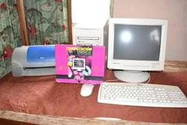 Computador impresora