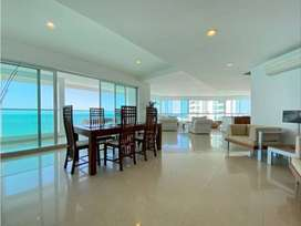 Apartamento 3 alcobas en Bocagrande frente al mar