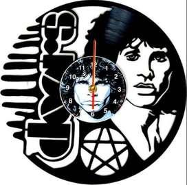 reloj de pared en disco de acetato o LP the doors