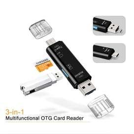 OTG MULTIFUNCIONAL 5 EN 1, LECTOR DE MEMORIAS USB Y MICRO SD