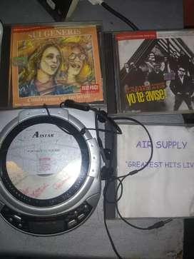 CD portátil con CD orinales todo 800