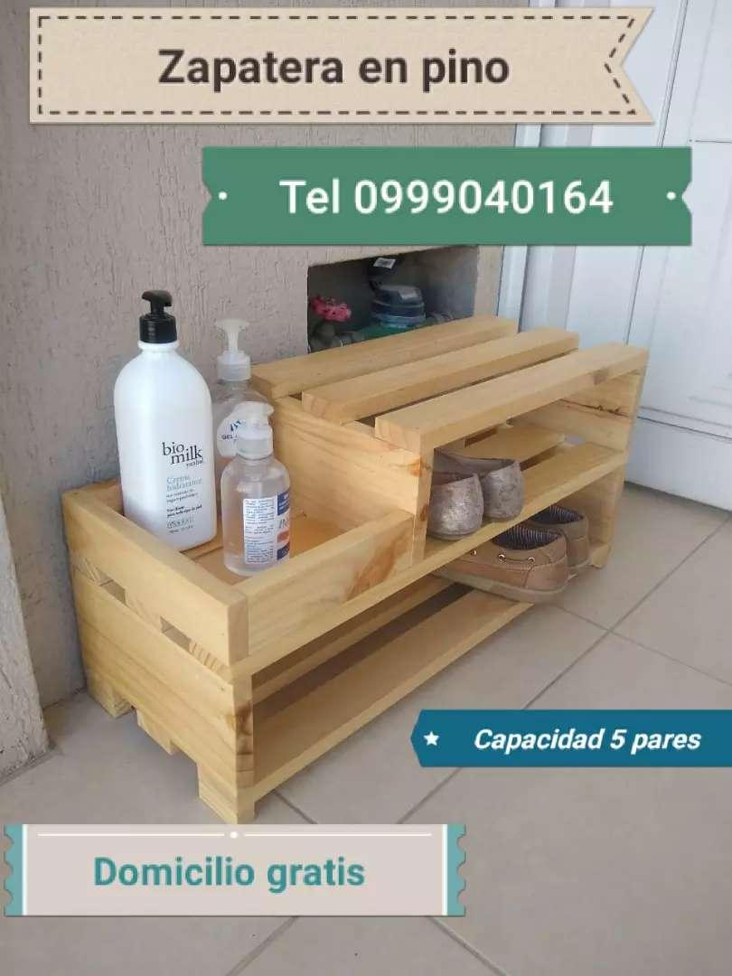 Zapatero en madera de pino 0