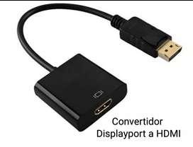 Convertidor Adaptador Displayport Macho A Hdmi Hembra
