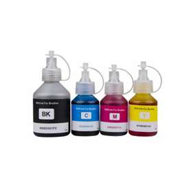 Tinta genérica BROTHER series T300/T500/T700w/T800w x 4 colores