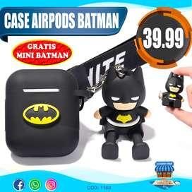 Case Para AirPods Modelo Batman + Muñequito De Regalo