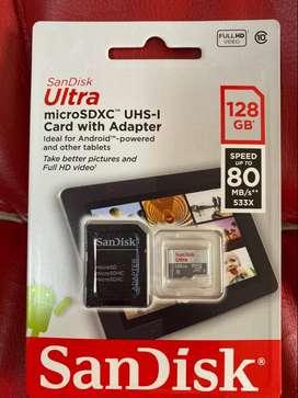 MICRO SD DE 128GB CLASE10  3.0  SANDISK
