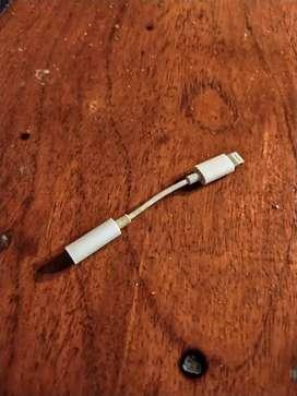Adaptador Lightning A Jack 3.5 Original  Iphone 7 8 Plus X