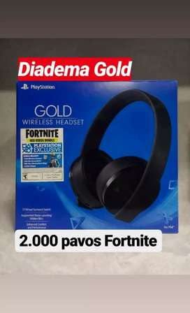 Vendo Diadema gold nueva