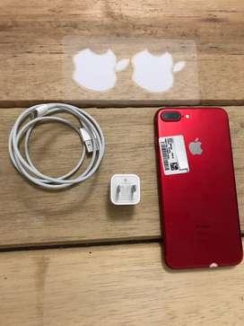 IPhone 7 plus rojo de 256 GB
