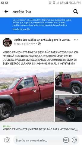 Se Vende Camioneta Mazda Bt50 Año 2015