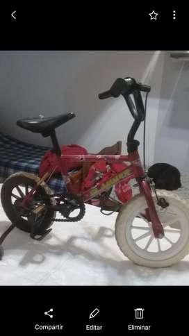 Bici cross niño con ruedas