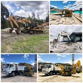 Alquiler de Excavadora, Retroexcavadora, Gallineta, Rodillo Compactador, Martillo Hidráulico, Volqueta, Miniexcavadora