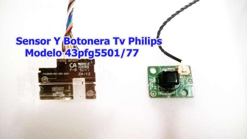Sensor Y Botonera Tv Philips Modelo 43pfg5501/77 0