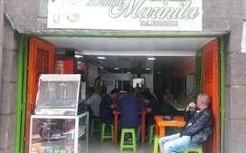Se vende cafetería y restaurante