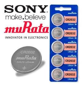 Pila Bateria De Litio Murata Original Cr 2032 3v Sellada X5