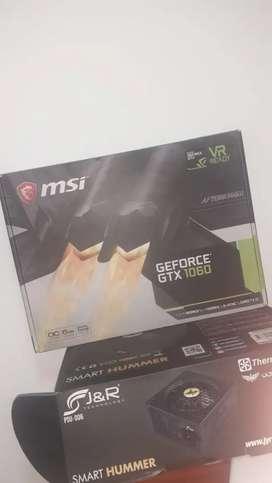 GTX 1060 MSI de 6gb en caja más obsequio