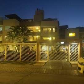Alquilo amplio departamento familiar en hermoso condominio en San Borja
