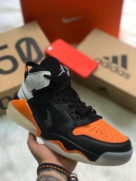 Botas Nike Jordan Retro Negro Naranja Blanco Envio Gratis