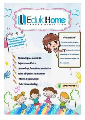 Tareas dirigidas a niños/as de Educación Básica