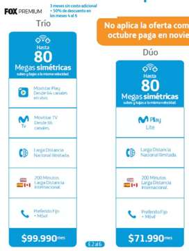 INTERNET Movistar Fibra Optica