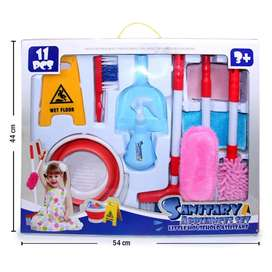 (11 Piezas) Kit de aseo de juguete para niñas (Caja Grande)
