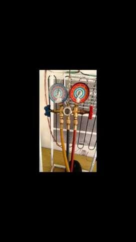 Mantenimiento  carga de gas reparación