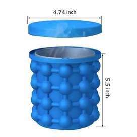 Liquidación Envase para hacer cubos de hielos portátil Cubos de Hielo 2 en 1, portátil y facil de almacenar.