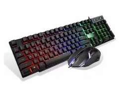 Combo Teclado Y Mouse Usb Gamer Iluminado 198i Cmk-188