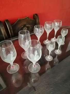 Un fuego de copas de cristal Baccara