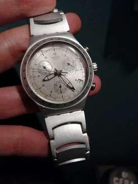 Reloj swatch cronografo en aluminio
