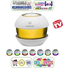 Difusor Aroma 150ml Diamante Humidificador Aromatizante Colores LED, Nuevos, Originales, Garantizados