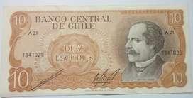 BILLETE DE 10 ESCUDOS CHILE