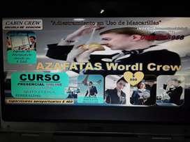 CURSO AZAFATAS WORLD CREW PRESENCIAL ONLINE
