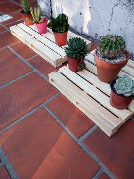 Mini Palets para Macetas. Ideal Cactus. Sulentas. Madera Pino !!
