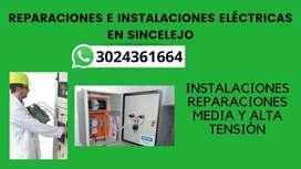 Reparaciones De Instalaciones electricas en Sincelejo