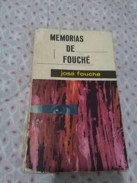 Memorias de Fouche . Jose Fouche . Libro Editorial Mateu