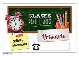 Clases particulares y apoyo escolar.