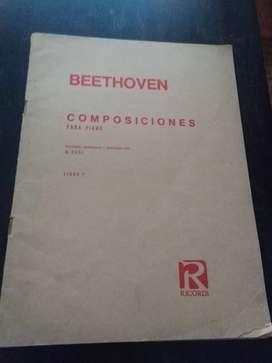 Partituras composiciones para piano BEETHOVEN elegidas por B.Cesi LIBRO 1 RICORDI 1974
