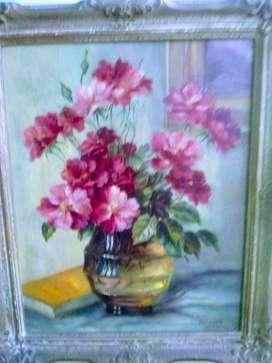 Hermoso cuadro al óleo M Mazzoni