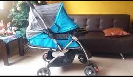 Coche Cuna Bebe Niño Azul Celeste
