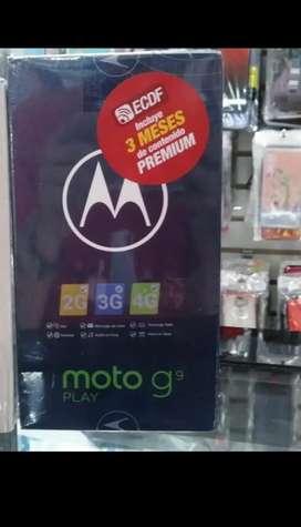 MOTO G9 PLAY DE 64 GB 4 RAM NUEVOS DE PAQUETE SELLADOS GARANTIZADO LOCAL