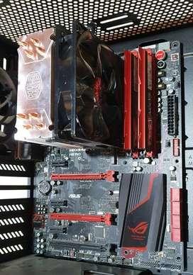 Intel i5 4690k combo, mother Asus, Gskill Trident 16Gb, Cooler Master Hyper 212