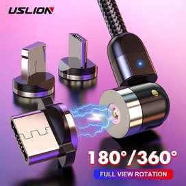 Cable Magnetico con rotacion de 360°