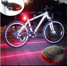 Luces Traseras Para Bicicleta LED Guias Laser BIKE SHOPPING