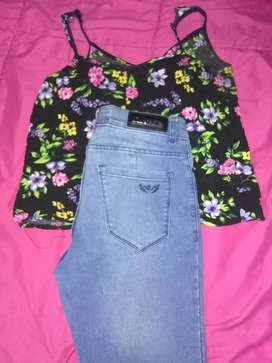 Jeans y musculosa