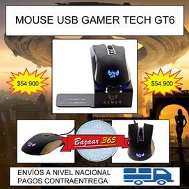 MOUSE USB GAMER TECH GT6