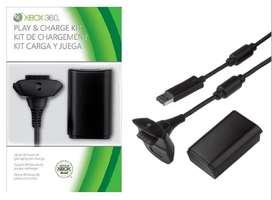 Kit Carga Y Juega Xbox Batería Y Pila Xbox 360