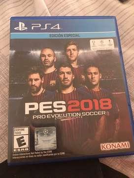 Juego play 4 original PES 2018
