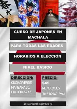 CURSO DE JAPONÉS EN MACHALA